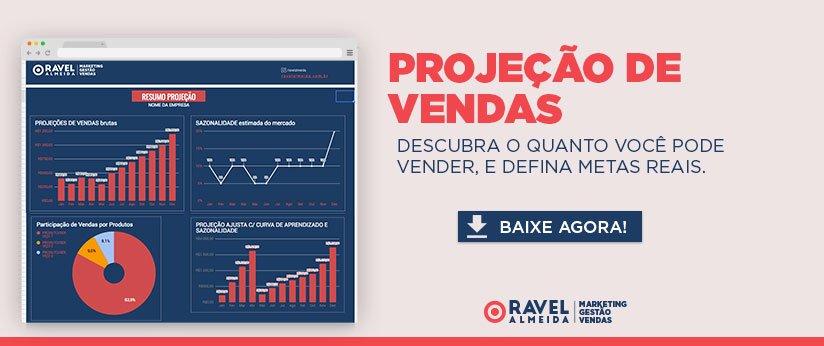 Banner projeção de vendas